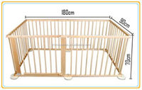 wooden square playpen, baby wooden playpen