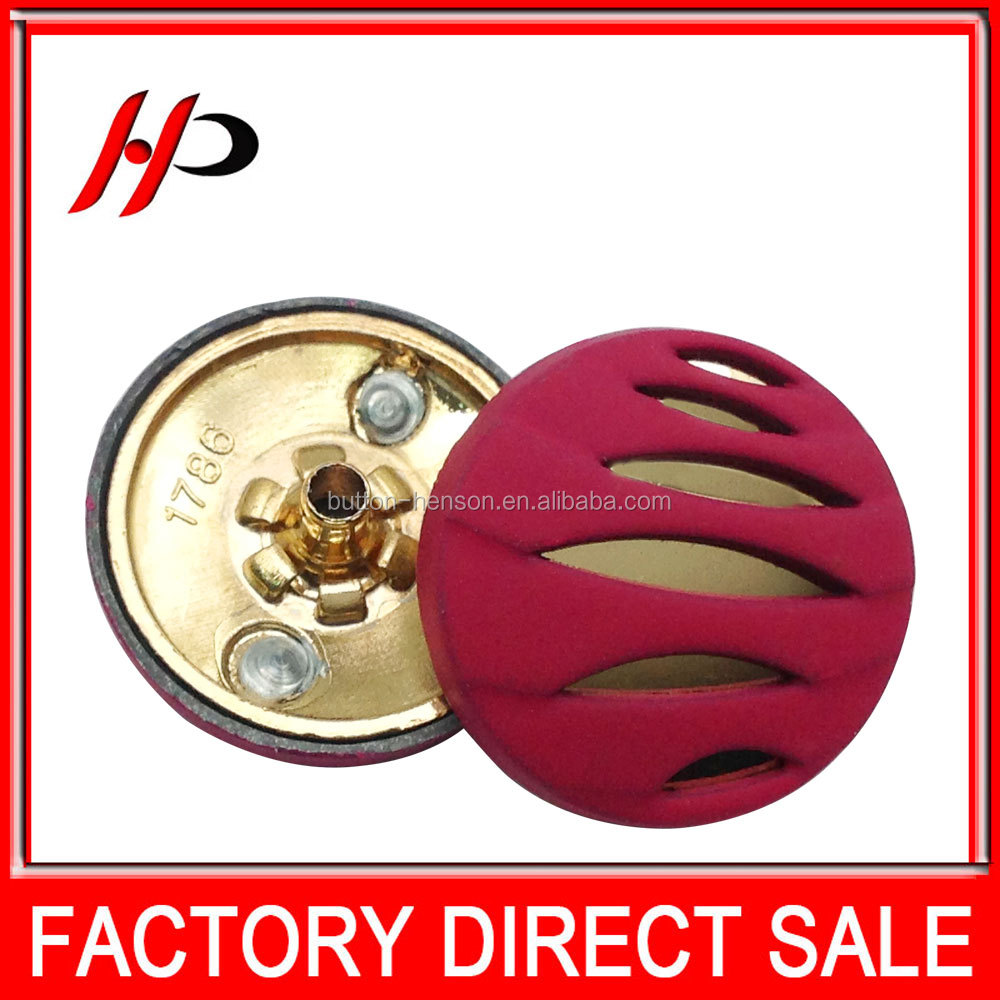 Fashion various designs bulk covered no sew metal snap button in buttons for jacket