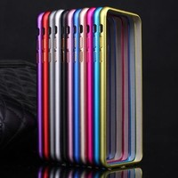 Ultra Slim Capa Bumper Case For Apple iPhone 6 Luxury Aluminum Metal Cell Phone Protective Cases Covers For iPhone 6s 4.7''