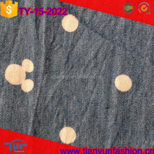 soft and thin textile organic cotton woven rolls animal printed denim fabric