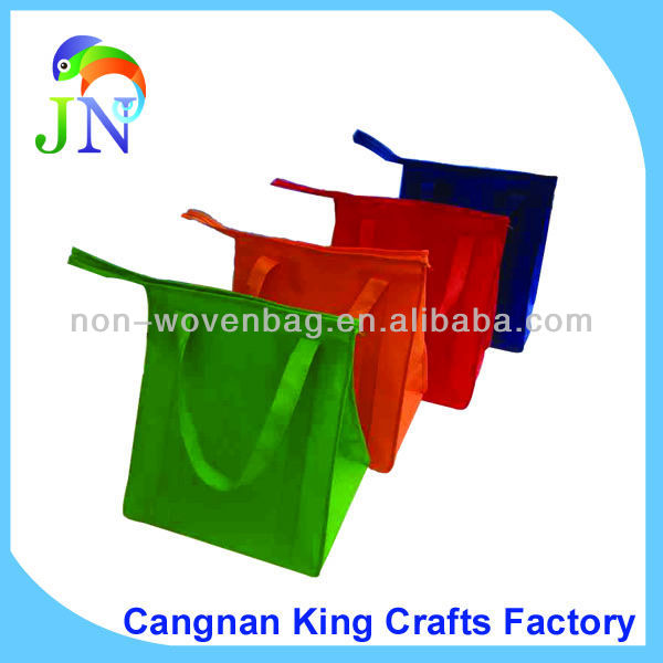 Beach Bags Totes With Zipper Non-woven, Good Zipper Style Shopping Bag