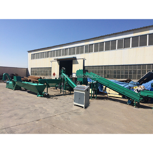 KEDA brand Waste plastic bottle recycling machine / pp pe hdpe flakes washing recycling line