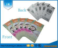 Garment jeans, shoes, bags and use product type paper hang tag