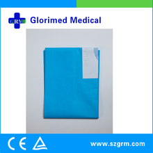 Medical Consumables Hospital Use Waterproof Polyethylene Film Surgery Cover With Tape