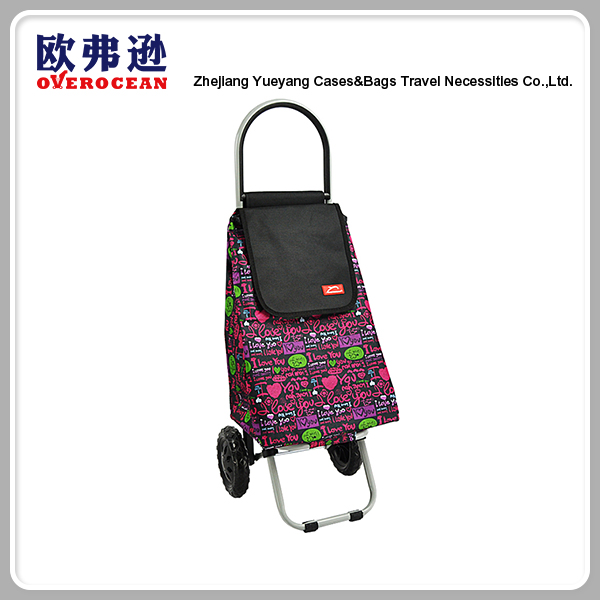 China Supply portable handheld folding shopping trolley bags