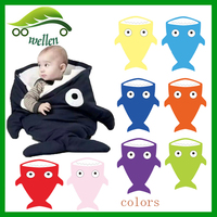 wholesale cartoon Shark styles kids baby infant child 100% organic cotton down sleeping bag