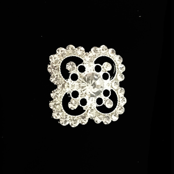 Top selling new design small flower rhinestone brooch for wedding