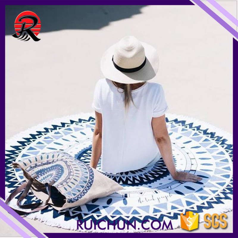 mandala towel round beach,large beach towel 100% <strong>cotton</strong>