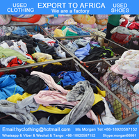 100kg bales of mixed used clothing for sale