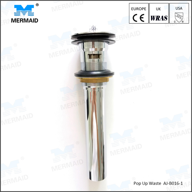 Brass flip plug waste with chrome plated quality guarantee basin drainer with overflow