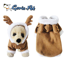 Super Cute Soft Warm Pet Clothes Dog Christmas Reindeer Costume