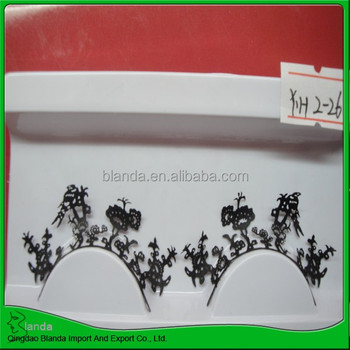 black paper flower eyelashes wholesale , hot sale with custom packaging