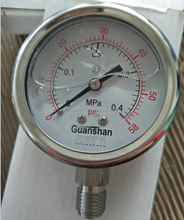 "1/4"" MNPT SS304/SS316L 0-60psi Oil Filled Vacuum/Pressure Gauge"