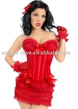 Red Baby Doll Costume Polka Sexy corset and Underwear