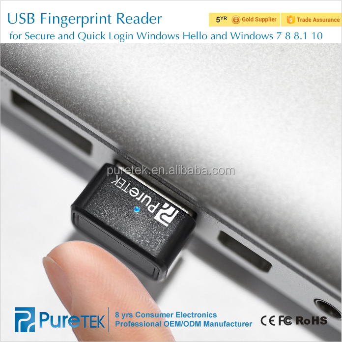 New Product! USB 3.0 Interface Multi-finger 360 degrees Touch Fingerprint Reader for Windows Hello and Windows 7 8 8.1 10
