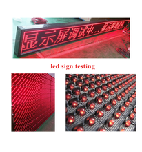 P10 good quality electronic single color led message board for schools
