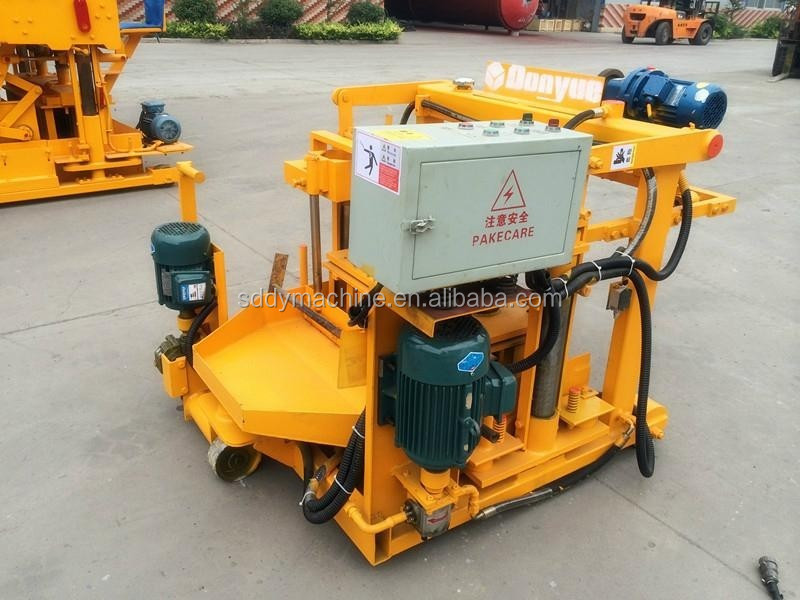 Hot selling QT40-3A movable hollow block machine price list
