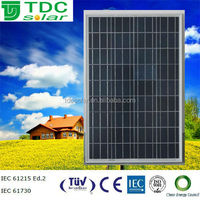 High quality price per watt 12v 100W poly pv solar panel