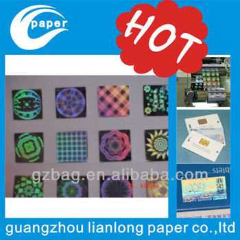 A grade lasser digital hologram for id cards Guangzhou Lianlong