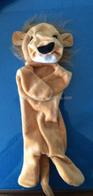 pet product 2014 hot sale custom plush stuffing free pet toy animal plush lion