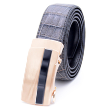 China DIY customized length removable automatic ratchet buckle men genuine python snake skin leather belt