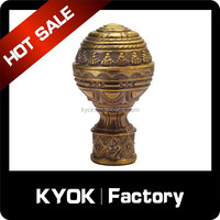 hot sell modern window home decorative metal screw curtain pole finial
