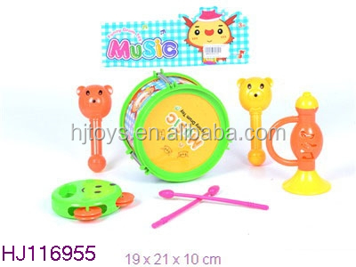 Baby Plastic Toys Musical Drum Set From Made In China 4PCS