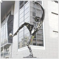 Large Stainless steel sculpture Bronze statue for stadium