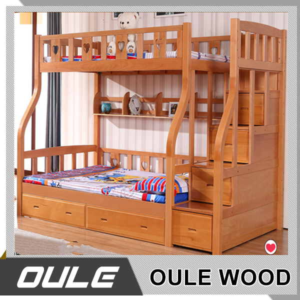 Wood Children Bunk Bed Wooden Separable Bunk Bed Teak Wood Double Bed