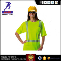 good quality green safety t shirt for women