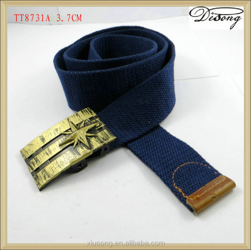 Exclusive design fashionable military woven polyester belt for wholesale