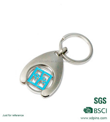 Shopping Trolley 1 Euro Coin Token Holder Keyring Keychain