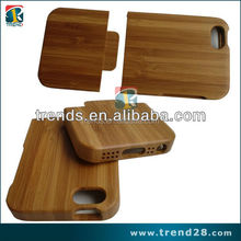 accept laser engrave logo bamboo wood case for iphone 5