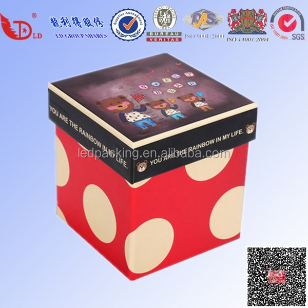 Fantastic design for color cardboard gift packaging paper box printing