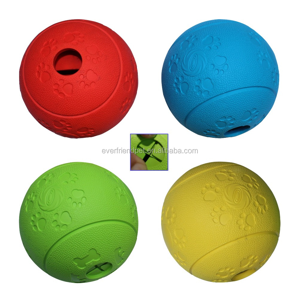 2015 hot sell rubber dog food ball, dog toys bouncing ball