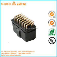 Factory price 16pin OBD2 PCB-Mounted Right Angle Automotive Plastic Connectors for Diagnostic Unit