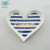 Heart shape colored luxury ceramic wedding ring display tray
