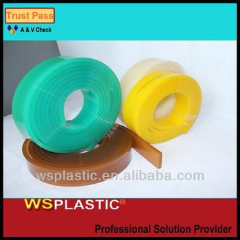High solvent polyurethane screen printing rubber squeegees