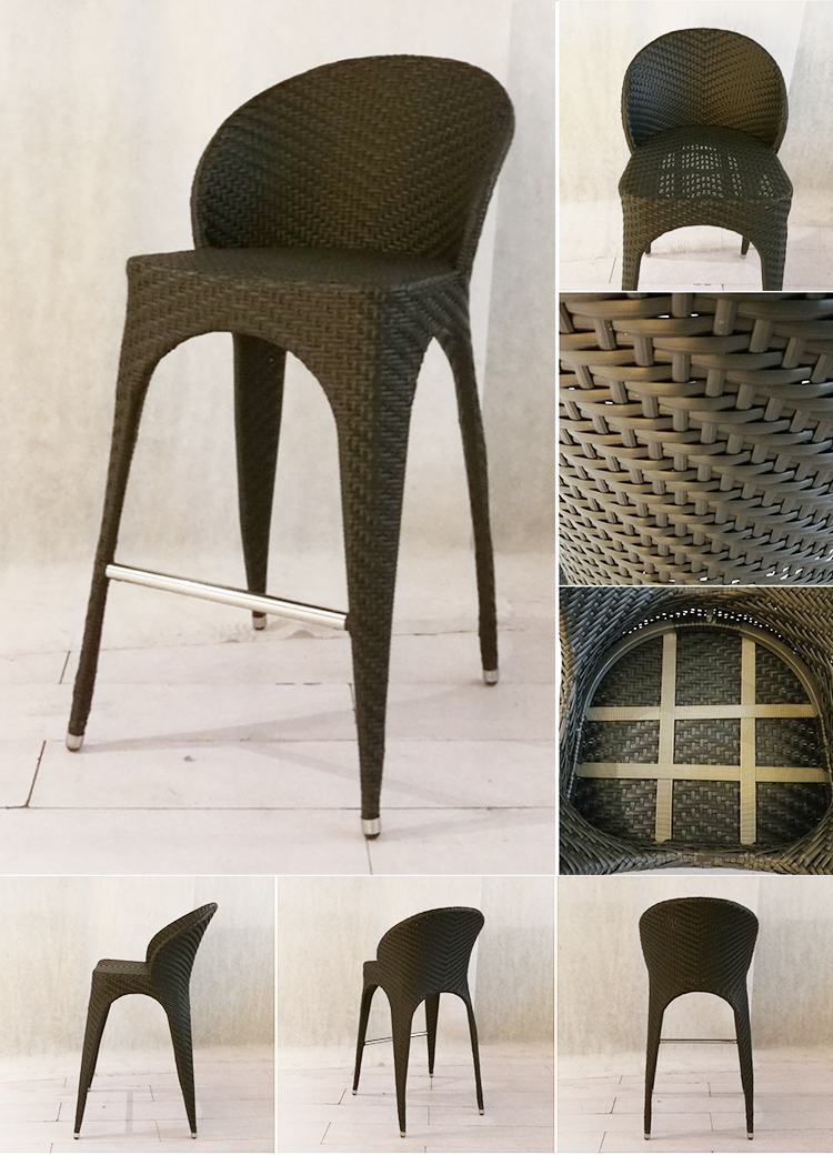 Stylish and affordable Canada rattan high bar stool chairs
