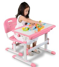Ergonomic adjustable kids furniture study table and chairs for child A30T