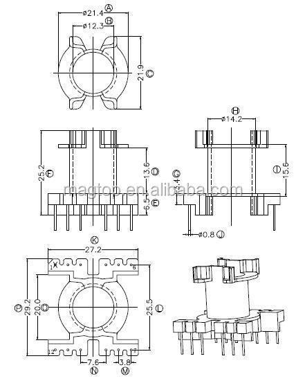 pq type step down 220v isolation transformer