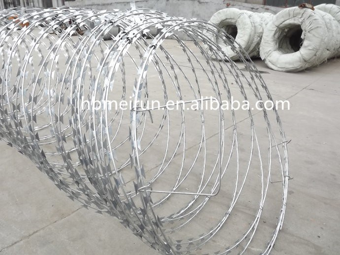 hot dip galvanized low price concertina razor barbed wire