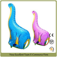 96x45cm large dinosaur balloons Aluminum animals pet ballon child inflatable toys for party supplies