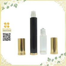 Convenience glass hot stamping black perfume tester bottle