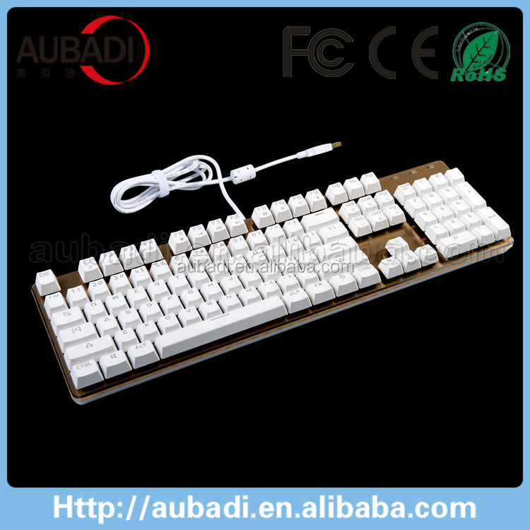 Newest High-end Tri-color LED Backlight Programmable Green Axis Mechanical Keyboard For Gaming