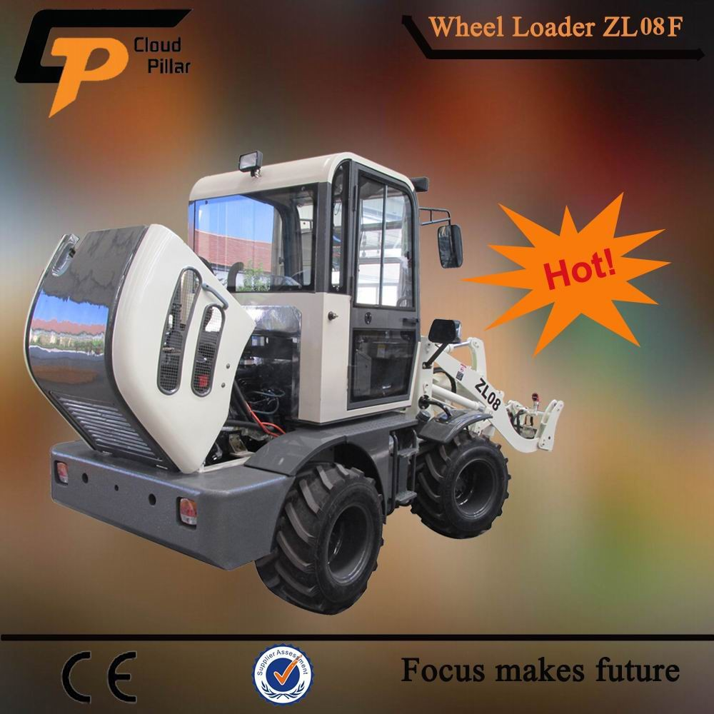 china front loader type zl08 small loader with log grapple