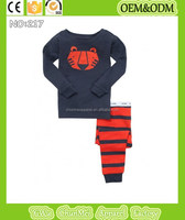 100%cotton sleepwear tigger head pajamas set printed pyjamas kids cartoon clothing baby boys pajamas