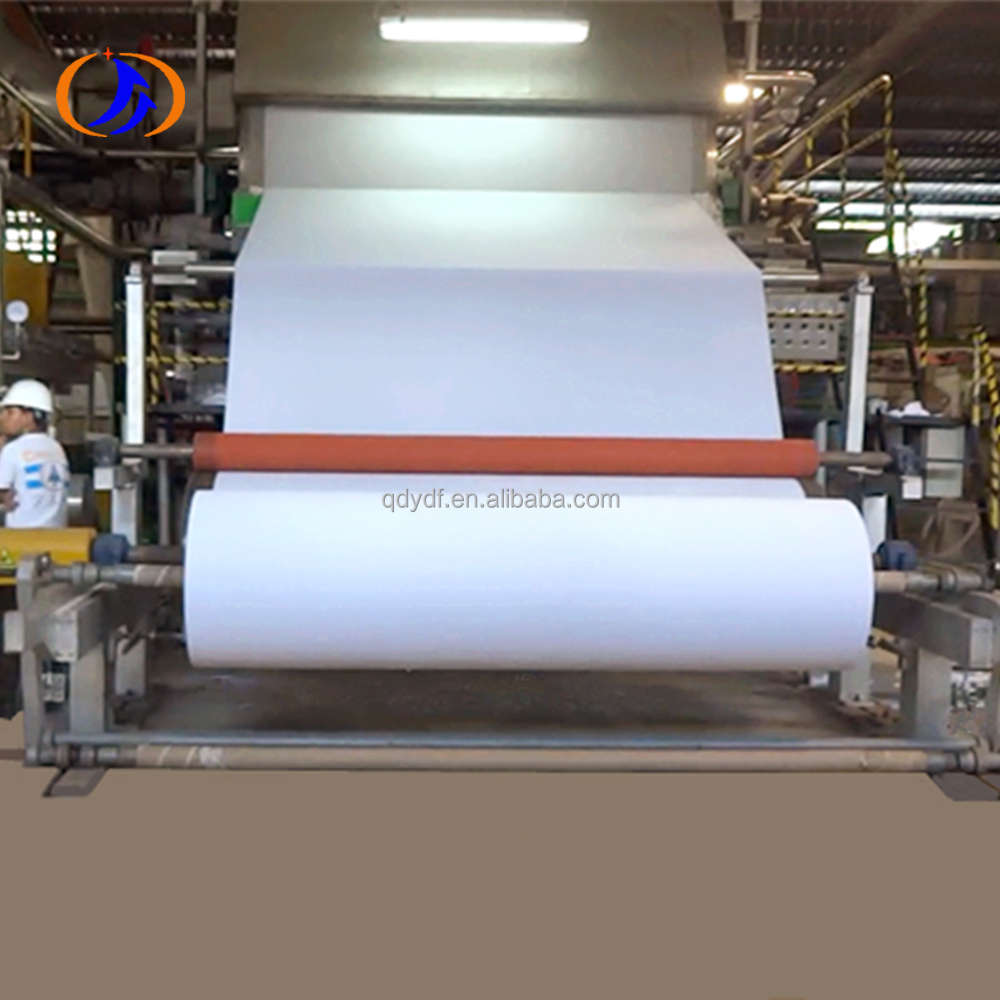 6 tons one day waste paper recycling pulp type 1880mm toilet tissue paper making machine with stable performance