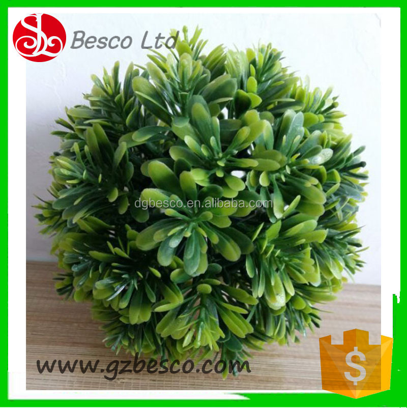 Synthetic decorative hanging yacca grass ball for indoor/outdoor decor