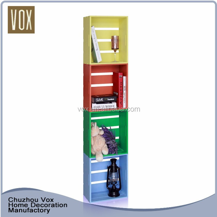 2016 Latest Design High Quality Fashionable Wooden Bookshelf Bookcase